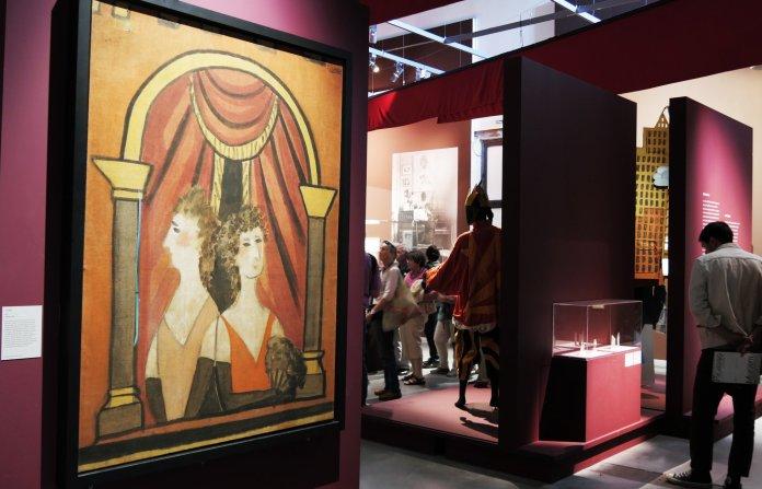 Pablo Picasso, La Loge (Le balcon), 1921 Huile sur toile, 191 x 141 cm Milan, Pinacoteca di Brera © Pinacoteca di Brera - Archivio Fotografico © Succession Picasso 2018
