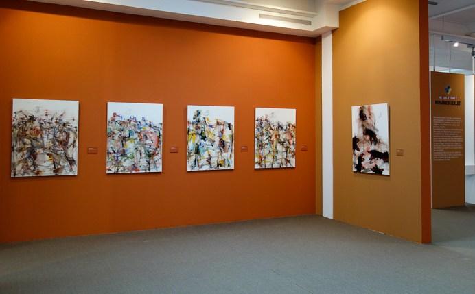 Thierry Delaroyère - Vue de l'exposition «4 à 4» au Musée Paul Valéry - Sète