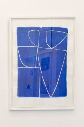 Caroline Denervaud, Bleu - Shapes, Body and Soul à la Double V Gallery – Marseille