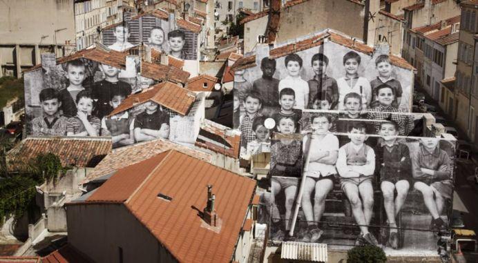 UNFRAMED, école Saint Charles revue par JR, Marseille, 1966-1967, Marseille, France, 2013