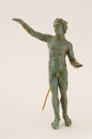 Statuette de satyre, Vani, Géorgie, IIIe siècle av. J.-C. Bronze, or, H. 28,10 cm. Musée national de Géorgie, Tbilissi © Georgian National Museum, photo Mirian Kiladze