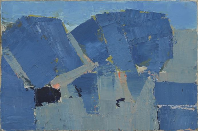 Nicolas de Staël, Arbre, 1953, huile sur toile, 22 x 33 cm, collection privée © Adagp, Paris, photo : © Jean Louis Losi