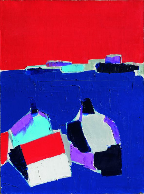 Nicolas de Staël, Marseille, 1954, huile sur toile, 80,5 x 60 cm, collection privée/ Courtesy Applicat-Prazan, Paris © Adagp, Paris, 2018, photo : © Comité Nicolas de Staël