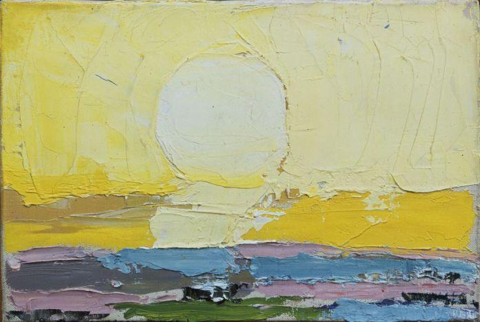 Nicolas de Staël, Le soleil, 1953, huile sur toile, 16 x 24 cm, collection privée © Adagp, Paris, 2018, photo : © Jean Louis Losi