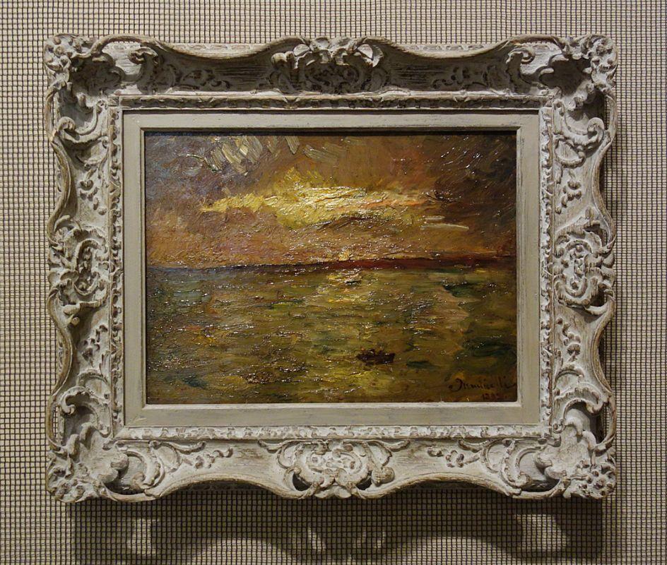 Adolphe Monticelli, Lever de soleil sur l'étang de Berre, 1879 - Soleil Chaud, soleil tardif à la Fondation Vincent van Gogh Arles
