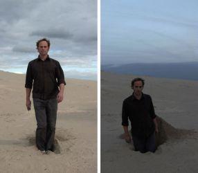 Claude Cattelain, Fromsand to dust, 2011, video HD, 16/9 vertical, 3 h 57 mn. Collection de l'artiste. Video still. - À la lumière au Frac Occitanie Montpellier