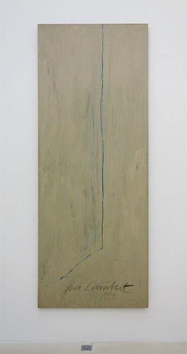 Cy Twombly, Portrait d'Yvon Lambert, 1975 - Djamel Tatah à la Collection Lambert - Vue de l'exposition, salle 2
