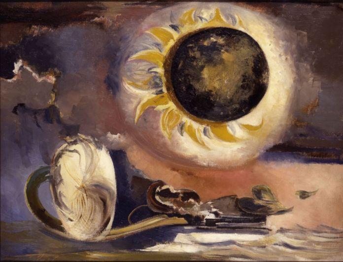 Paul Nash, Éclipse du tournesol, 1945. Huile sur toile, 71,1 x 91,4 cm. British Council Collection.
