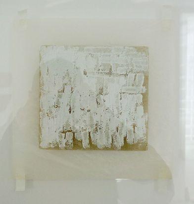 Robert Ryman, Untitled, 1970 - Djamel Tatah à la Collection Lambert - Vue de l'exposition, salle 6