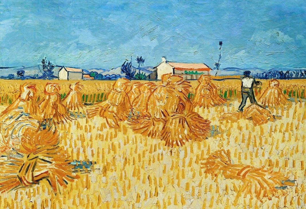 Vincent van Gogh, Moissons en Provence, juin 1888 Huile sur toile, 51x 60 cm Israel Museum, Jérusalem. Exposition Soleil chaud, soleil tardif. Les modernes indomptés à la Fondation Vincent van Gogh Arles