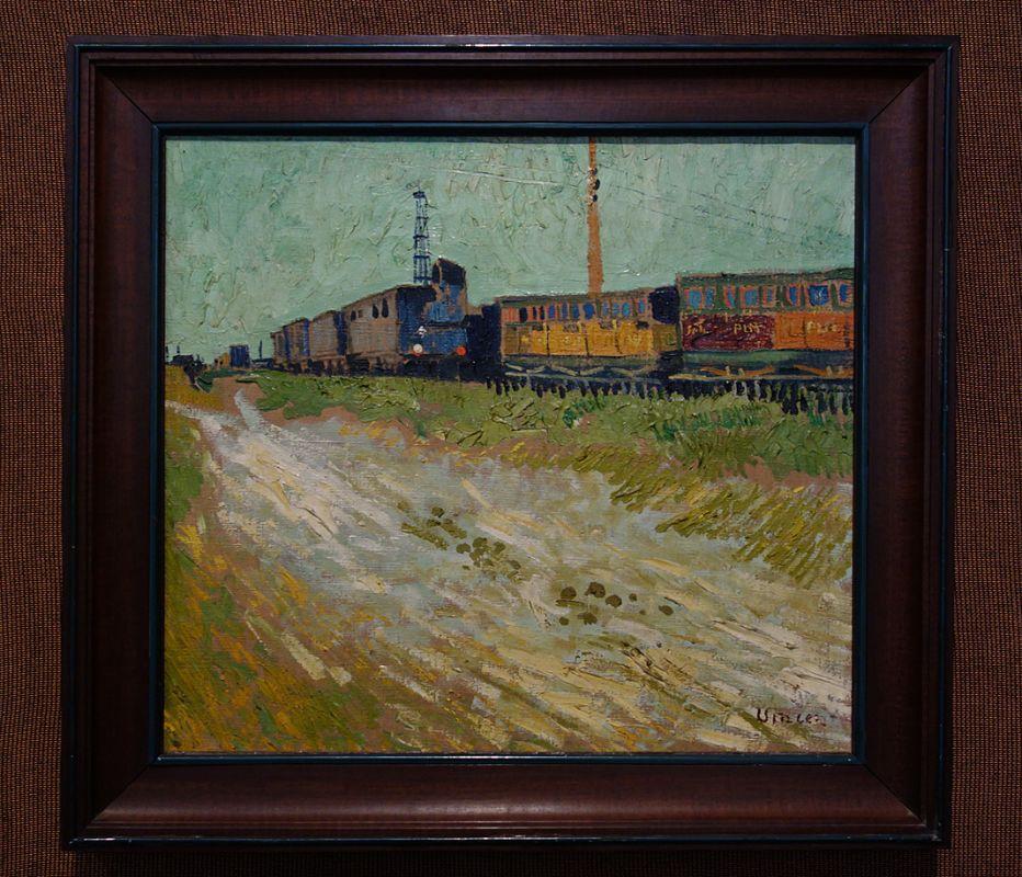 Vincent van Gogh, Wagons de chemein de fer, Arles, 1888 - Soleil Chaud, soleil tardif à la Fondation Vincent van Gogh Arles