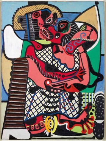 Pablo Picasso, Le Baiser, été 1925 Huile sur toile, 130,5 x 97,7 cm Musée national Picasso-Paris © Succession Picasso, 2018