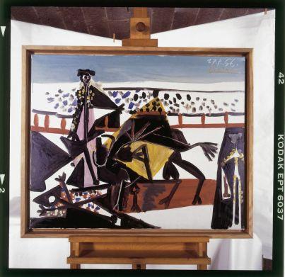Pablo Picasso, Passe de cape, 1956 Huile sur toile, 60 x 73 cm Belfort, Musée d'art moderne Donation Maurice Jardot © Succession Picasso, 2018