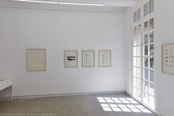 Toni Grand, Dessins 1970-71 - Vue de l'exposition à la galerie ALMA – Montpellier - Photo © David Huguenin
