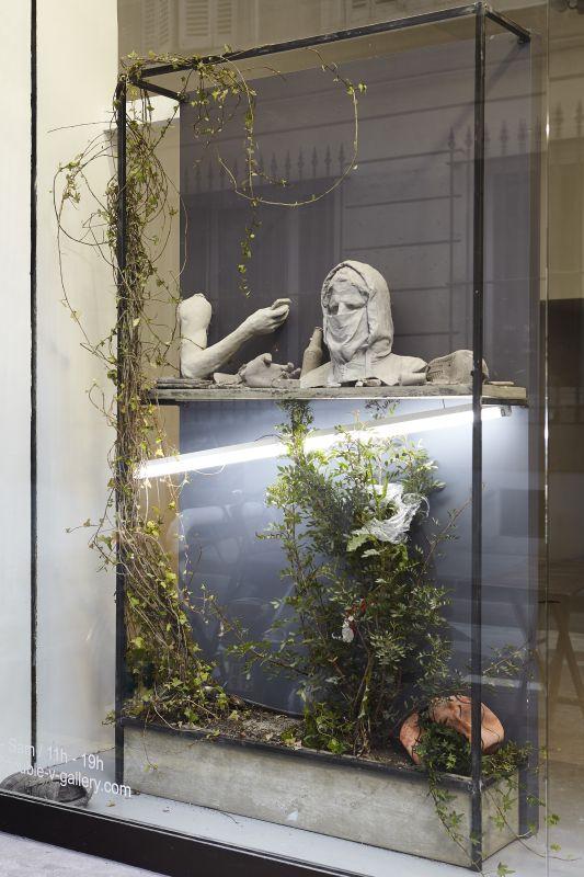 Ugo Schiavi - «Rudus, Ruderis» - Vue de l'exposition à la Double V Gallery – Marseille Photo © Jean-Christophe Lett