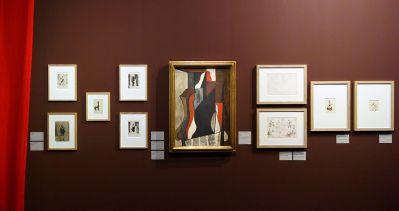 Vue de l'exposition Picasso et les Ballets russes, entre Italie et Espagne au Mucem