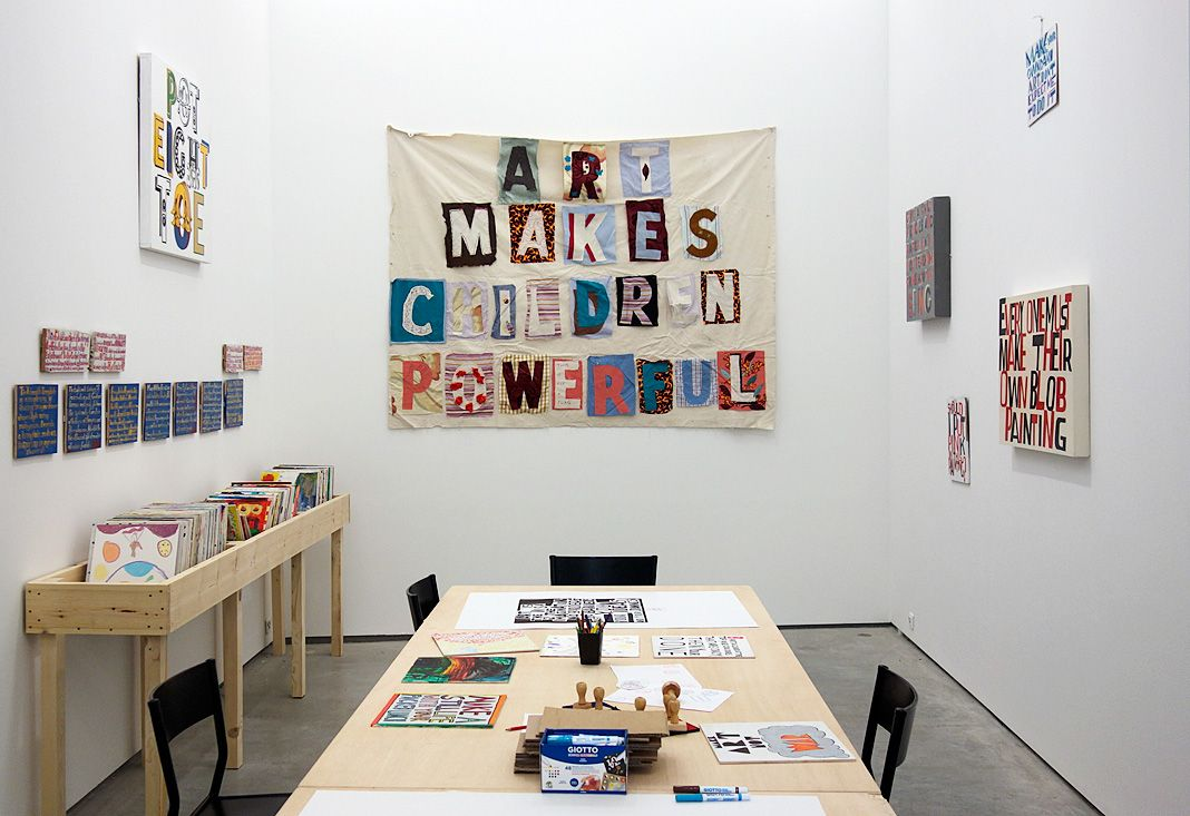 Bob and Roberta Smith - « Activist » à La Panacée - atelier_1