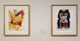 Pablo Picasso, Étude pour Trois femmes, tête de la femme de gauche et Nu assis, printemps 1908 - Picasso, voyages imaginaires à la Vieille Charité - Marseille