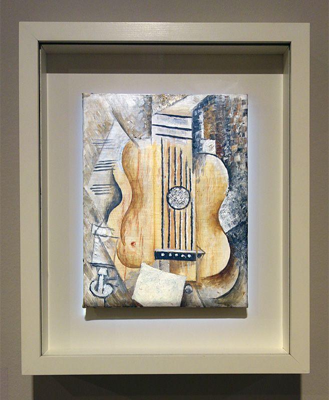 Pablo Picasso, Guitare « J'aime Eva », été 1912 - Picasso, voyages imaginaires à la Vieille Charité - Marseille - Horta - Sorgues – Marseille