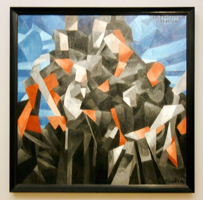 Picabia, Procession, Séville, 1912 - Exposition Picasso Picabia – La Peinture au défi au musée Granet - Cubismes (1907-1915)