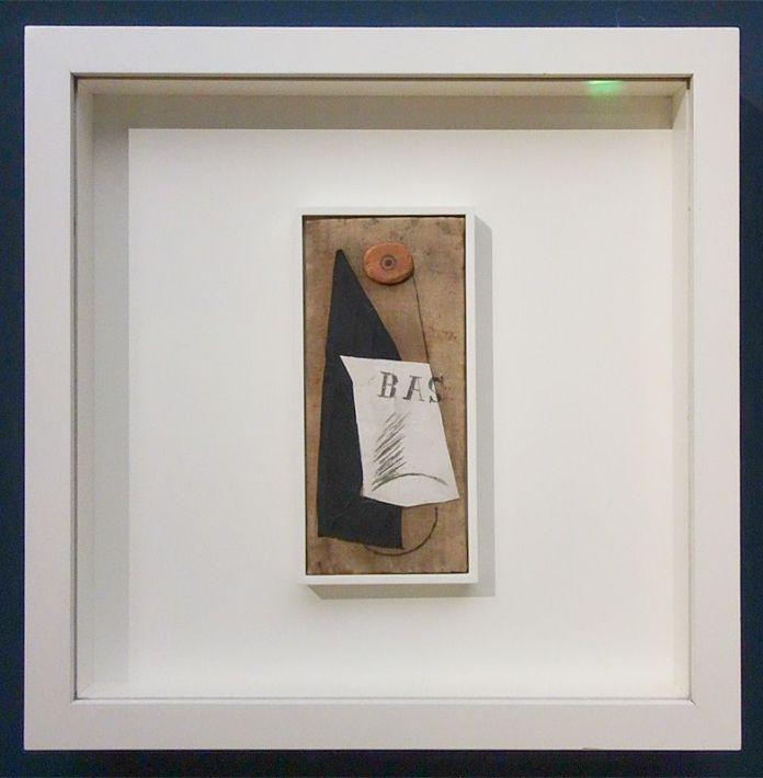 Picasso, Bouteille de Bass, printemps 1914 - Exposition Picasso Picabia – La Peinture au défi au musée Granet - Vers l'objet (1912-1917)