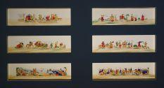 Ensemble de plaques de lanterne magique 1850-1900 - Exposition Fan-Tan au Mucem