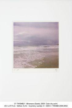 Cy Twombly, 2005.0052 Miramare (Gaeta)