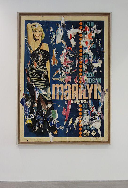 Mimmo Rotella, Marilyn, il Mito di un'Epoca, 1963 - La complainte du progrès au MRAC - Vue de l'exposition