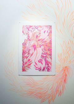 Drawing room 018 à La Panacée - Montpellier - Galerie Clémence Boisanté - Ganaëlle Maury