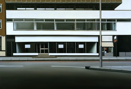 Lisa Milroy, Euston Station, 1995, Huile sur toile, 150 x 220 cm, Collection Frac Occitanie Montpellier, Inv. 98P0625
