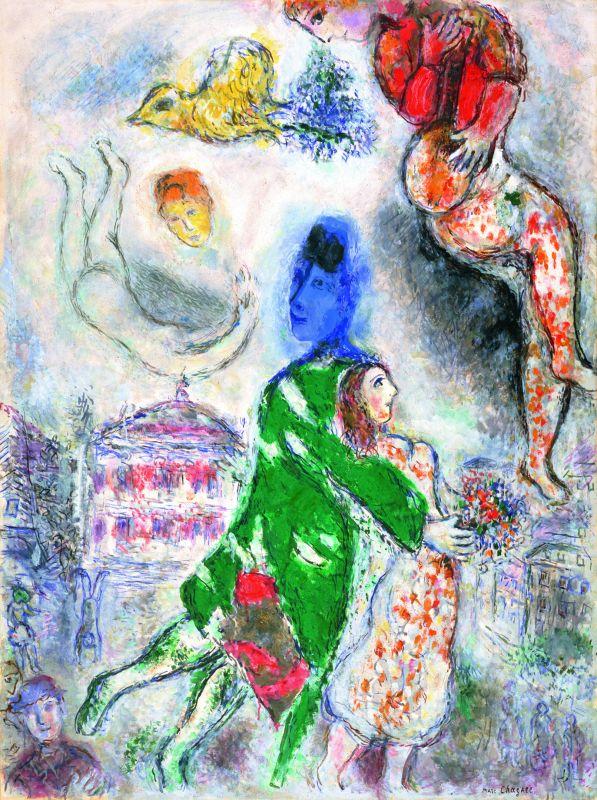 Marc Chagall Personnages de l'Opéra 1968-1971 Huile sur toile 130 x 96,8 cm Pola Museum of Art, Hakone © ADAGP, Paris, 2018 © Pola Museum of Art, Pola Foundation