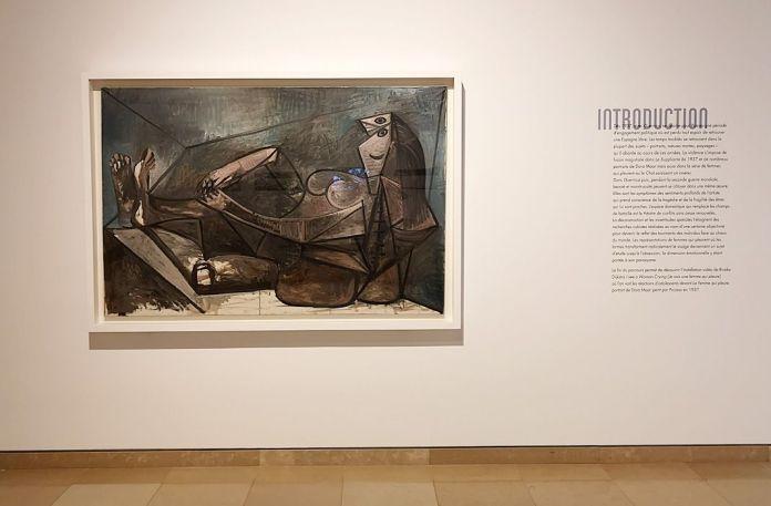 Picasso - Le temps des conflits - Carré d'Art - Nîmes - Vue de l'exposition - Salle 1 : Grand Nu couché, 28 juin 1943