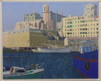 Vincent Bioulès - La Tourette 2, 1994. 130 x 162 cm, huile sur toile