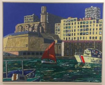 Vincent Bioulès - La Tourette 2, 2018. 130 x 162 cm, huile sur toile