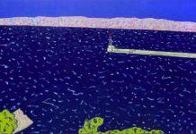 Vincent Bioulès - Le Mistral 2, 2018. 130 x 195 cm huile sur toile