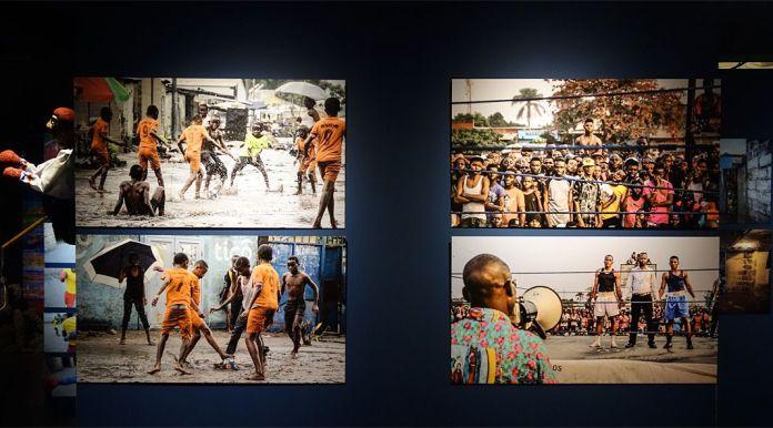 Dareck Tubazaya (né en 1985 à Kinshasa ; vit et travaille à Kinshasa) Kin sport (2017) 4 tirages numériques Avec l'aimable autorisation de l'artiste