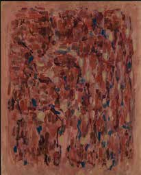Elvire Jan Rose, bleu, rythmes 1987 Huile sur toile 92 x 73cm Coll. part., Suisse