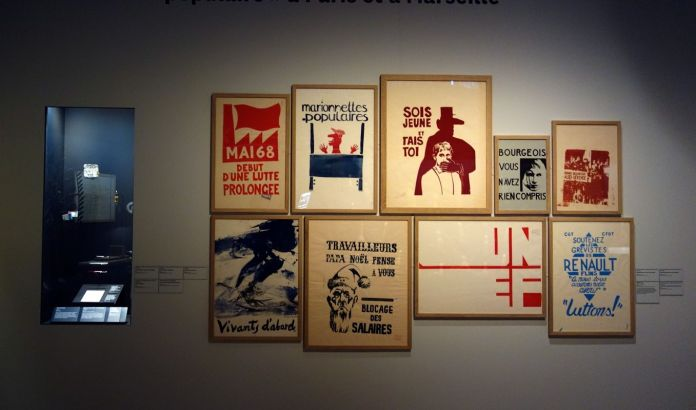 Georges Henri Rivière Voir, c'est comprendre au Mucem - L'« atelier populaire » à Paris et à Marseille - Vue de l'exposition