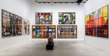Gilbert & George, The Great Exhibition, 1971-2016 - Luma Arles - Vue de l'exposition à la Mécanique Générale 08
