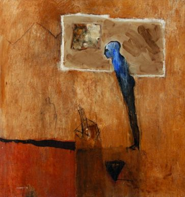 Sans titre. Technique mixte sur toile. 160 × 150 cm. Atelier de l'artiste © Atelier de l'artiste