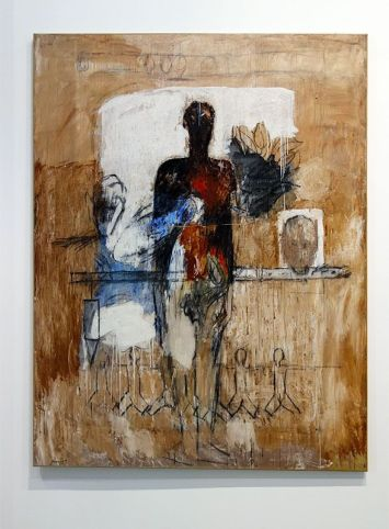Kacimi 1993-2003, une transition africaine au Mucem - Sans titre, série « Le Temps des conteurs » - Acrylique et technique mixte sur toile
