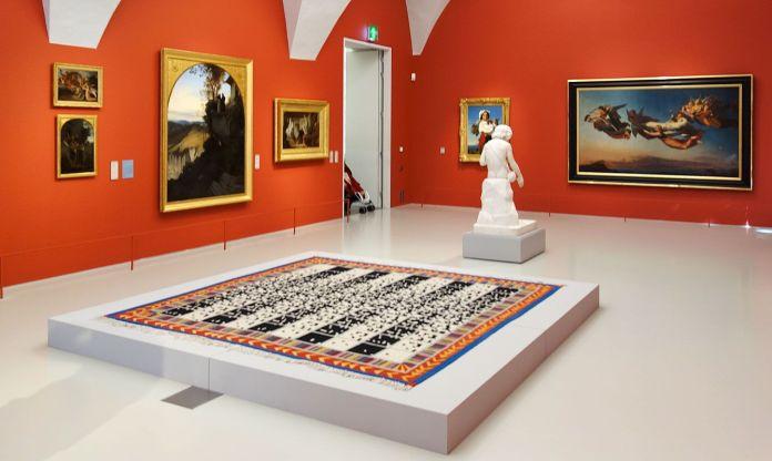 Le rêve de la fileuse - trois collections en dialogue au Musée Fabre - Alighierio Boetti, En alternant de 1 à 100 et vice et versa, 1993