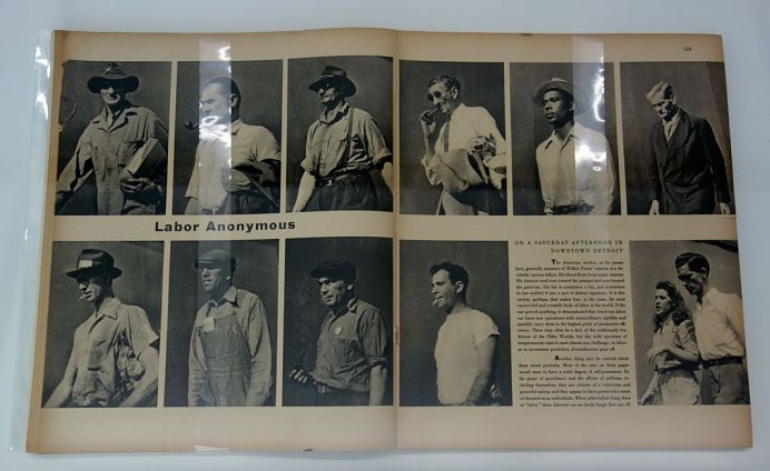Picture Industry - Luma Arles - Deuxième partie - Walker Evans, Labor Anonymous, Fortune, novembre 1946