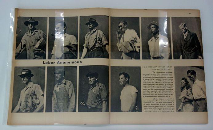 Picture Industry - Luma Arles - Deuxième partie - Walker Evans, Labor Anonymous, Fortune, novembre 1946