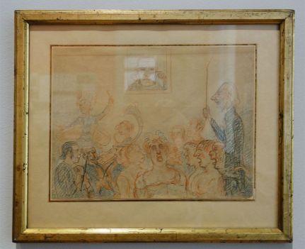 James Ensor, Bourgeois indignés sifflants Wagner à Bruxelles, vers 1890 - James Ensor et Alexander Kluge - Siècles noirs à la Fondation Van Gogh Arles
