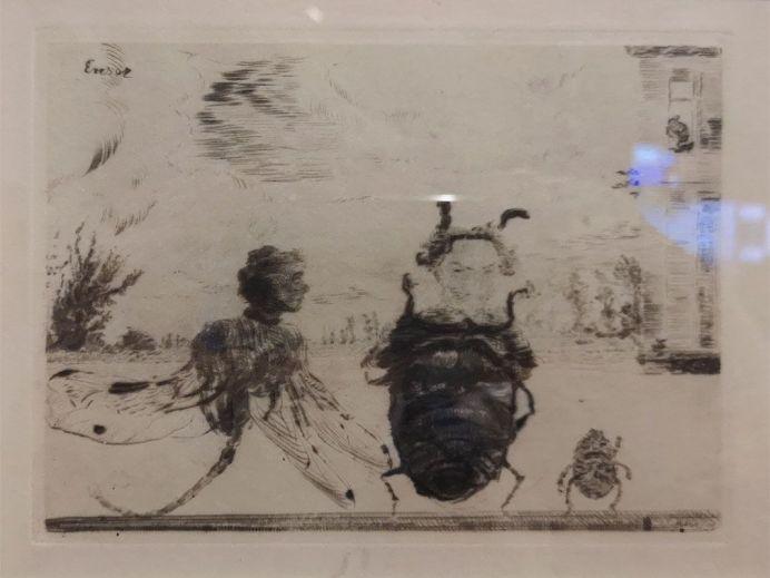 James Ensor, Insectes singuliers, 1888 - James Ensor et Alexander Kluge - Siècles noirs à la Fondation Van Gogh Arles