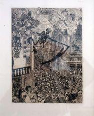 James Ensor, La mort porsuivant le troupeu des humains, 1895 - James Ensor et Alexander Kluge - Siècles noirs à la Fondation Van Gogh Arles