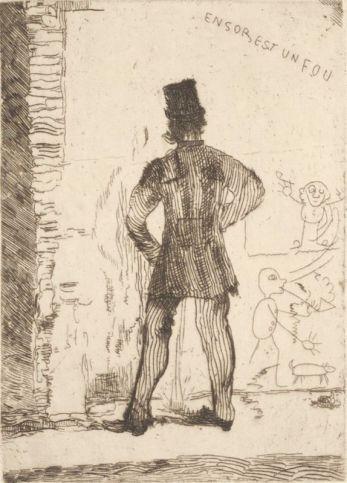 James Ensor, Le pisseur, 1887