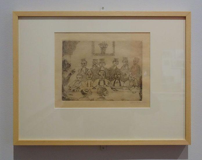 James Ensor, Les bons juges, 1894 - James Ensor et Alexander Kluge - Siècles noirs à la Fondation Van Gogh Arles