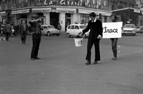 Ben Vautier, «Faire une trace dans la ville» - 100 artiste dans la ville, Montpellier 1970